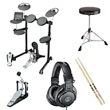 buy Yamaha Dtx450K Drum Kit W/ Ath-M30X, Throne, Kick Pedal, And Esticks Bundle