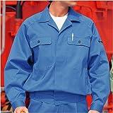 ミドリ安全 【綿100%】 メンズ 長袖ブルゾン M6477 ブルー 3L
