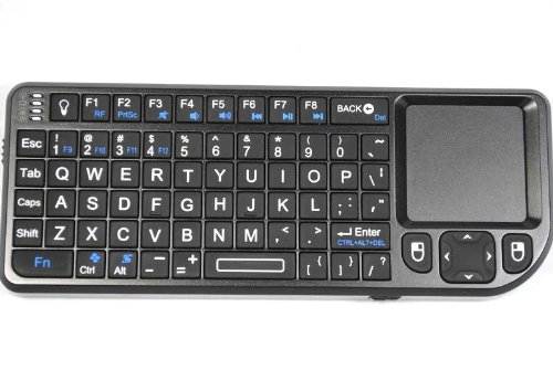 9f32b079c84 RII Mini Wireless Bluetooth Keyboard - Compatible with Apple iPad PC and Mac  , Built-in Touchpad Mouse, Backlit Display and Laser Pointer for Sale -  Review ...