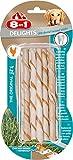 8in1 Delights Pro Dental Twisted Sticks (funktionaler und gesunder Kausnack, hochwertiges gedrehtes Hähnchenfleisch, Mineralien zur effektiven Plaqueentfernung bei Hunden), 10 Stück (55 g Beutel)