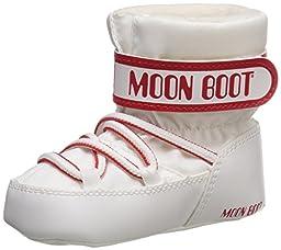 Moon Boot Crib Winter Fashion Boots, White, 20 EU (3-5 months M US Infant)