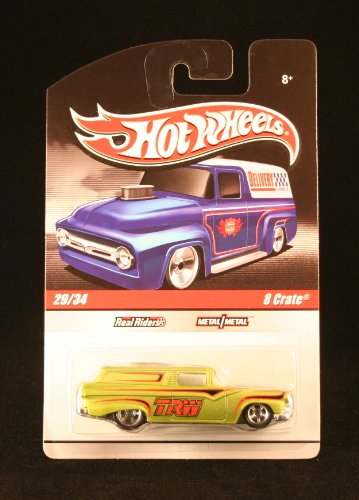 8 CRATE 29/34 * METALLIC LIME GREEN * Slick Rides 2010 Hot Wheels Delivery Series 1:64 Scale Die-Cast Vehicle