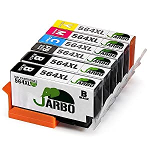 JARBO Compatible for HP 564XL Ink Cartridge, 3 Color(2 Cyan 2 Magenta 2 Yellow), Used in HP Photosmart 5520 6520 7520 5510 6510 7510 7525 B8550 HP Premium C309A C410A HP Officejet 4620 HP Deskjet 3520