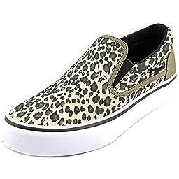 DC Women\'s Trase Slip-On SP Skate Shoe, Leopard Print, 7 M US