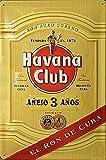 Havana Club Rum (w. slash)  メタルサインプレート   (hi 3020)