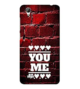 ifasho Quote On Love you and me Back Case Cover for VIVO Y31L