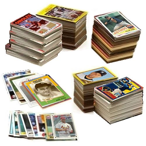 MLB Baseball Card Collector's Box with Over 600 Cards - Great Mix of Rookies & Stars - Includes a Babe Ruth Baseball Card Plus At Least One Original Unopened Pack of Vintage Baseball Cards That Is At Least 25 Years Old!