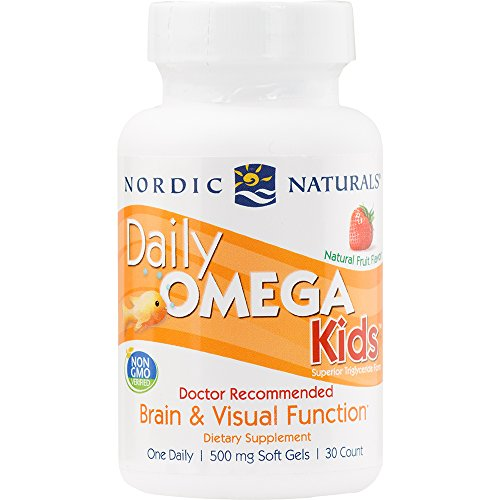 Nordic Naturals - Daily Omega Kids, Healthy Heart Support, 30 Soft Gels (FFP) (Omega 3 Vitamin For Kids compare prices)