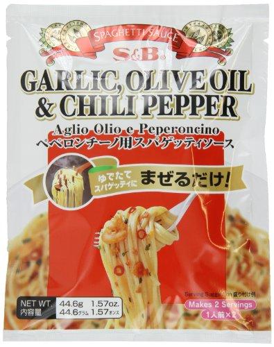 S&B Garlic, Olive Oil & Chili Pepper Peperoncino Spaghetti Sauce, 1.57-Ounce (Asian Spaghetti Sauce compare prices)