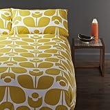 Orla Kiely Wallflower Queen 3pc Duvet Cover Set, Mustard Yellow