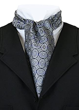 Victorian Mens Ties Geometric Ovals Ascot $37.95 AT vintagedancer.com