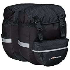 Avenir by Raleigh is the premier bicycle accessory line from legendary Raleigh Bicycles.Equipped with 1,464 cubic inches of storage space, these Avenir Excursion panniers hold everything from picnic lunches to bicycle gear. The panniers are made of t...