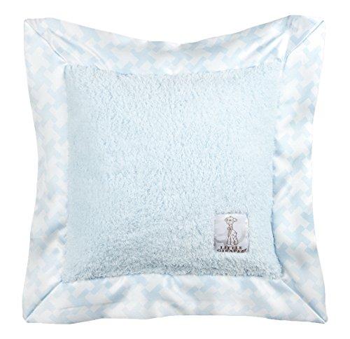 Little Giraffe Chenille Hounds Tooth Pillow, Blue