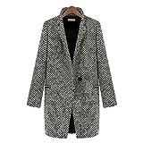 Tonsee® Femmes Grande revers Manteau en laine cachemire long Parka Trench Jacket Outwear (M)...