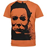 Halloween - Mens Splatter Mask Subway T-shirt 2x-large Orange
