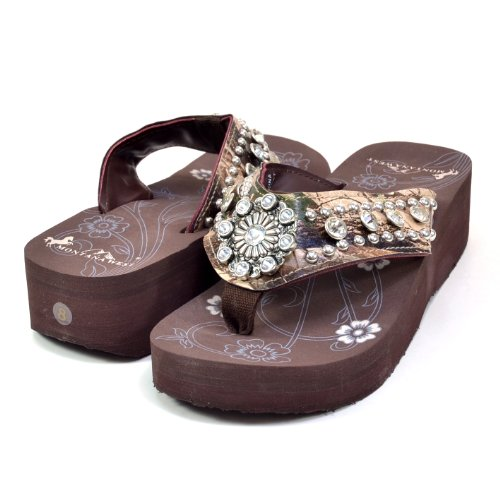 Western Flip Flops With Bling