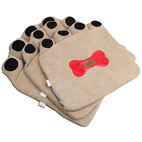 Becoler Autumn And Winter Pet Mats, Footprints Pet Pet Cushion Three-piece (brown) (Pampered Pets 2 Ds compare prices)