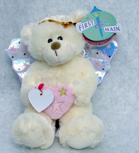 First & Main Lil' Bless You Bear Huggum Cream & Pink 6""