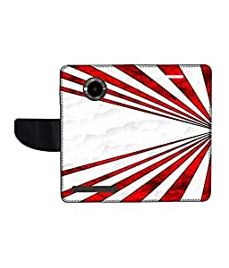 KolorEdge Printed Flip Cover For Micromax Yu YuPhoria Multicolor - (1478-50KeMLogo11754MmxYuPhoria)