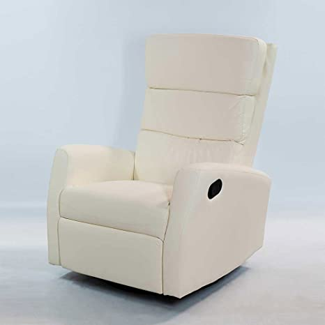 Relaxsessel in Creme Schaukelfunktion Pharao24