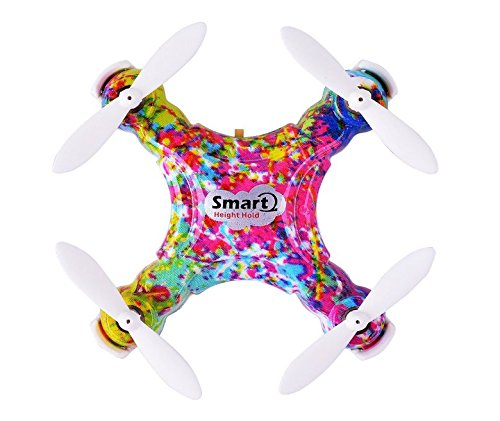 Dayan Anser Mini Drone RC Quadcopter, CX-10D CX 10D Pocket Hand Blade Nano Helicopters, Intelligent Fixed Altitude RC Aircraft, 3D Flip, One-Key Landing and Take Off, Colorful (Mini Rc Helicopter Blades compare prices)