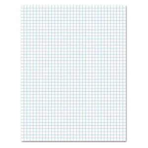 Ampad 8 1/2 x 11 Inches White Quad Pad, 4 Square Inch, 50 Sheets, 1 Each (22-030C)
