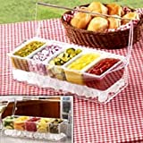 CHILLED CONDIMENT SERVER WITH 5 REMOVEABLE CONTAINERS!
