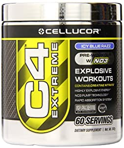 Cellucor C4 Extreme Workout Supplement, Icy Blue Razz, 342 Gram