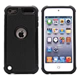 BZ Gadget Shock Proof Case Cover for Apple iPod Touch 5G 5th Generation (Black) + BZ Gadget Cleaning Cloth