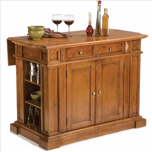Home Styles Kitchen Island in Distressed Cottage Oak Finish