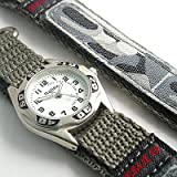 Reflex – Childrens/Boys Grey Army/Camouflage Style Velcro Watch (114)