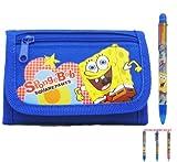 Spongebob Tri-fold Wallet and Multicolor Pen - Blue