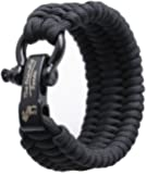 "The Friendly Swede Trilobite Extra Beefy Paracord Survival Bracelet with Stainless Steel Black Bow Shackle, Adjustable Size Fits 7""-8"" (18-20 cm) Wrists"