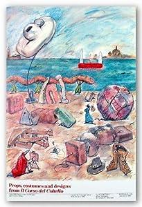 """Props, Costumes and Designs from Il Corso del Coltello by Claes Oldenburg 34.75""""x26"""""""