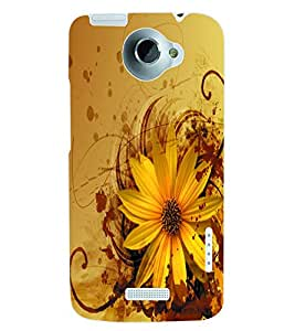 ColourCraft Flower Back Case Cover for HTC ONE X