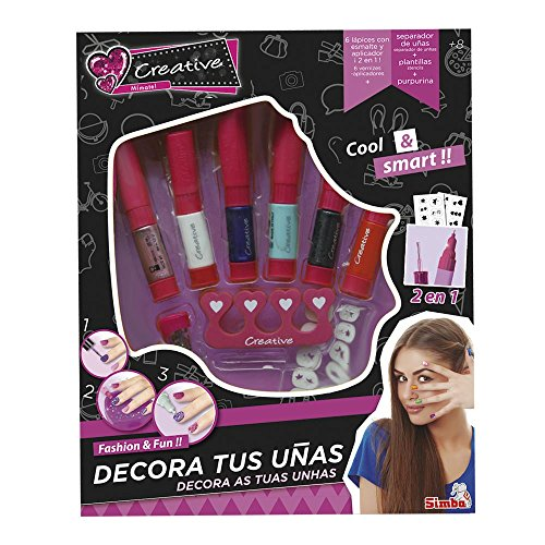 Creative - Set de decoración, color rosa (Simba/Nice 5957534)