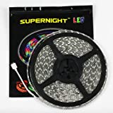 SUPERNIGHT 10M Continous LED Strip Light 5050 SMD RGB Flexible 32.8FT Super Long IP65 Waterproof LED Strip 60LEDs/M 600LEDs/Reel LED Light Tape DC24V Christmas Decorative LED Lighting