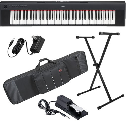 Yamaha NP31 Keyboard STAGE BUNDLE w/ Carrying Bag, Stand & Pedal