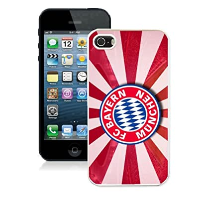 Bayern-Munich iPhone 5/5s Case, Football Phone Accessory for Fanatics Sport Fan, Dirtproof Shockproof iPhone 5/5s Rugged Cover