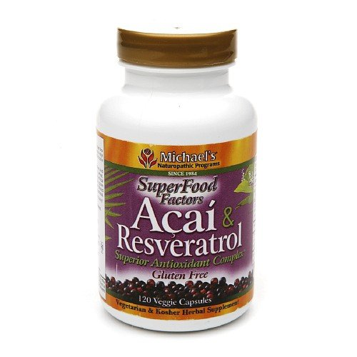 Michael'S Naturopathic Programs Super Foods Factors Acai & Resveratrol Antioxidant, Veggie Caps 120 Ea