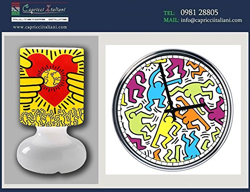 lamp-and-clock-steel-keith-hering-2nd-version