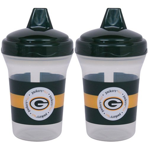 Baby Fanatic Nfl Green Bay Packers Baby Fanatic 2-Pack Sippy Cups front-997976