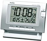 PYXIS (ピクシス) 目覚し時計 電波時計 電子音アラーム 温度表示 湿度表示 NQ501S