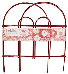 Glamos 770509 18-Inch by 10-Foot Red Folding Wire Fence