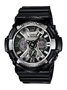 Casio Men's GA200BW-1A G-Shock Magnetic Resistant Black Resin Digital Watch: Casio