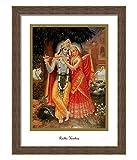Elegant Arts & Frames Radha & Krishna (White) Multicolour Print 14 x 19 Photo Frame