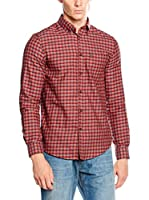 Ben Sherman Camisa Hombre Ls Marl Tartan (Rojo / Negro)