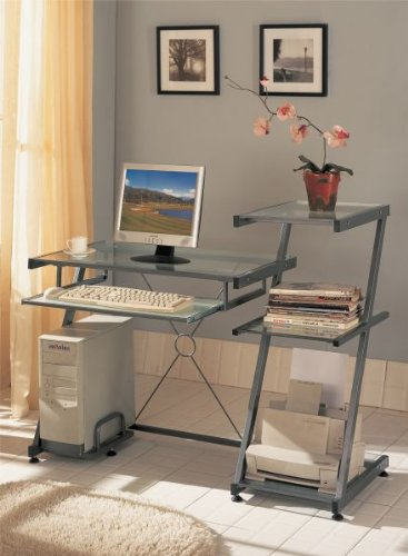 Buy Low Price Comfortable Computer Desk by Poundex (B003MB7C5K)