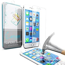 iPhone 6s Plus Screen Protector, Enther [Retina Sense] Tempered Glass Premium High Definition Shockproof Clear Screen Protector 0.3mm Thickness 2.5D Curved Edge for iPhone 6 6s Plus