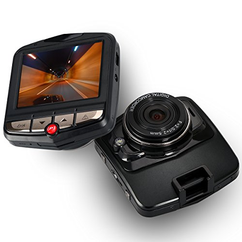 ZeroEdge 2.4- inch 135° View Angle, Full HD 1080P with G-Sensor Car Dashboard Camera Bundle with 16GB TF Card (Black)